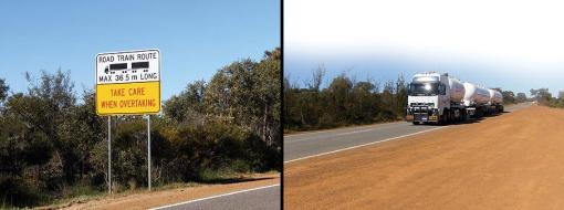Conjunto com 36 metros de comprimento é menor para poder rodar por rodovias que limitam o tamanho do road train