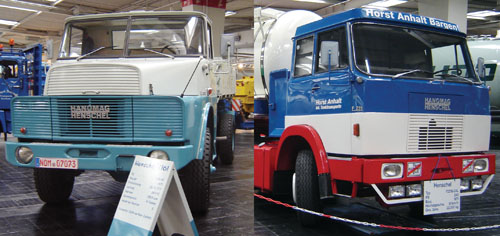 Estes caminhões produzidos pela também alemã Hanomag-Henschel em 1971 tinham 240 hp. O modelo F221, de cara-chata, tinha um segundo eixo direcional no cavalo