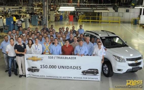 Chevrolet S10 chega a 150 mil unidades produzidas