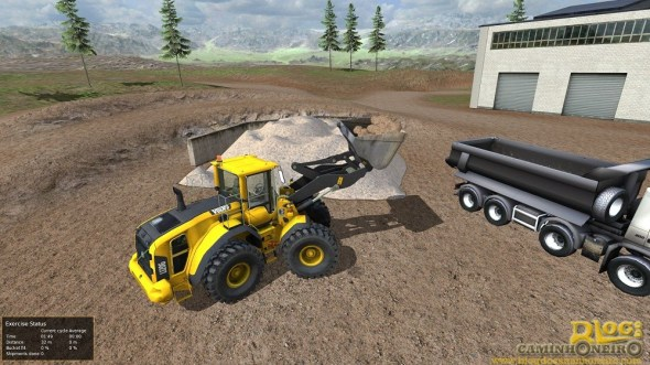 Image generated from Volvo Advanced Training Simulator, wheel loader program.