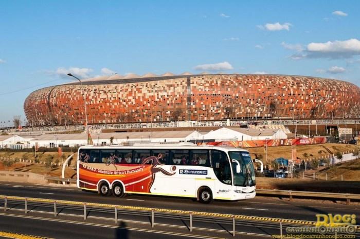 Ganhando o mundo: uma das fábricas fica na África do Sul, onde, na Copa de 2010, a Marcopolo forneceu mais de 800 ônibus.