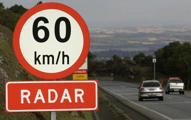 Radares de velocidade das rodovias federais de SC e do RS estão desligados