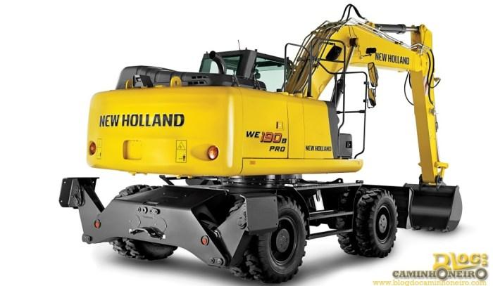 Escavadeira de rodas New Holland