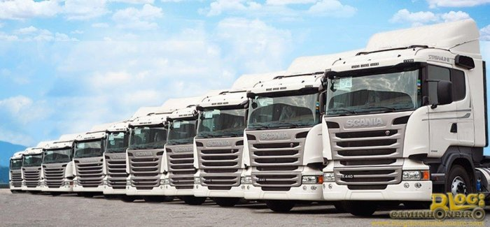frota scania streamline transportadora