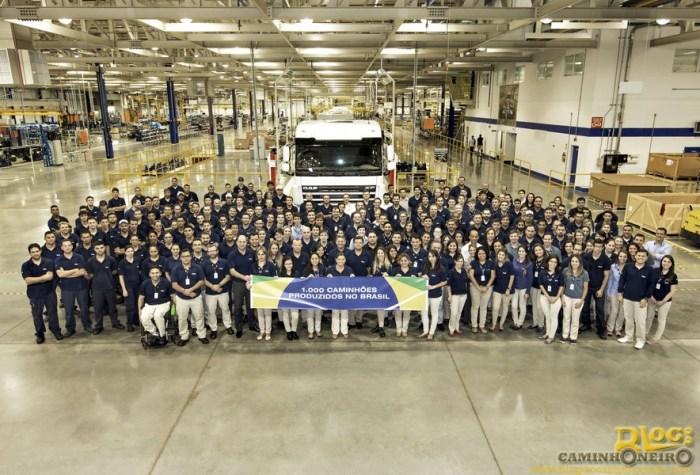 DAF celebra o milésimo caminhão produzido em PG