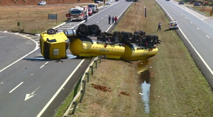 acidente caminhao tanque