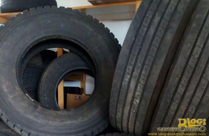 PRF apreende pneus de origem estrangeira na BR-163