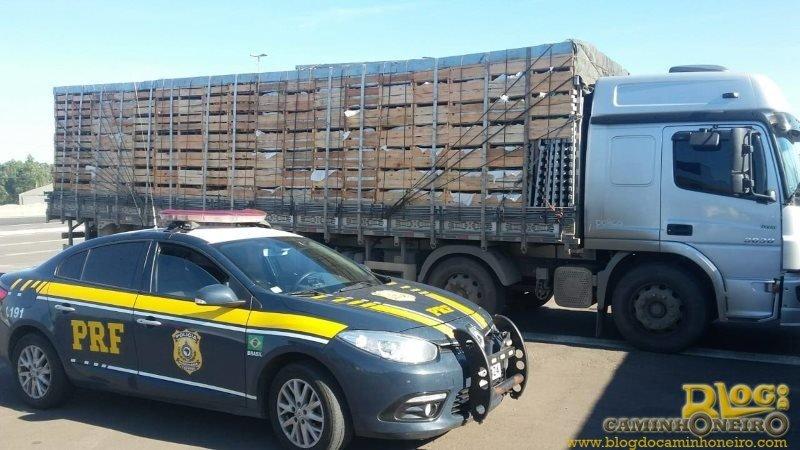 Motorista dirigindo por quase 24 horas sem parar é retido em Santa Catarina