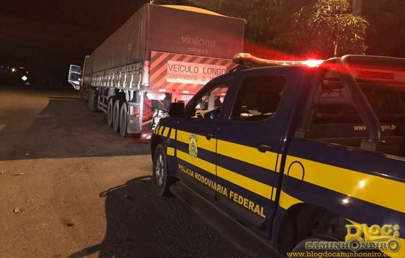 PRF prende caminhoneiro por porte ilegal de arma de fogo