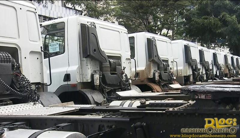 Criminosos usam documentos falsos e compram frota de caminhões em SP