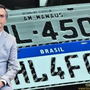 Veículos emplacados não precisarão trocar para placas Mercosul