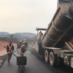 Exército quebra recorde na produção de asfalto para pavimentação da BR-163/PA