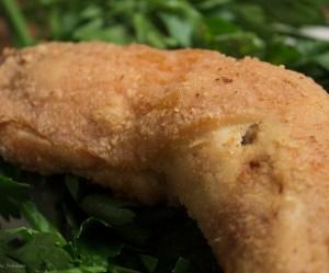 Frango frito crocante na manteiga ghee