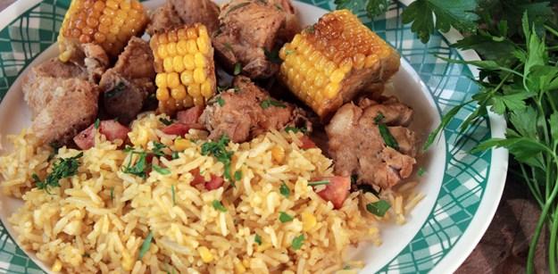 Carne de porco com milho verde