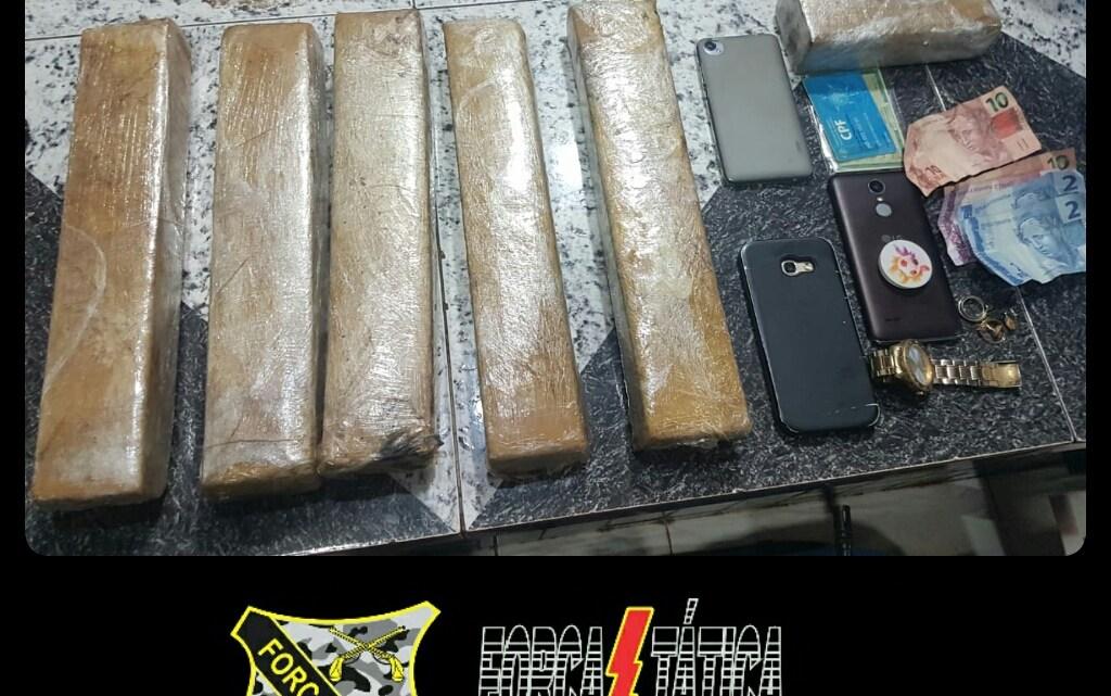 Polícia apreende mais de 5kg de maconha, a droga seria comercializada em Pinheiro