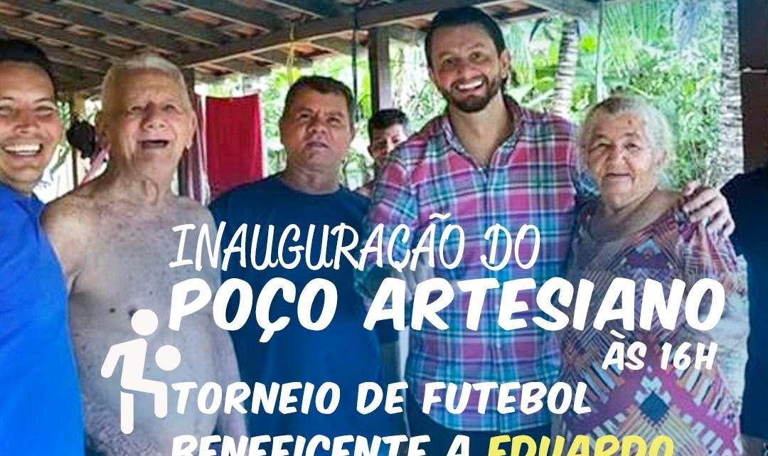 Pinheiro – Deputado Leonardo Sá e vereador Riba do Bom Viver irão inaugurar neste sábado (29), poço artesiano com recursos próprios no povoado Madeira