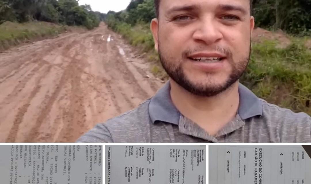 Após denúncia do vereador Gentil, prefeitura de São Bento melhora qualidade do serviço de recuperação de estradas vicinais