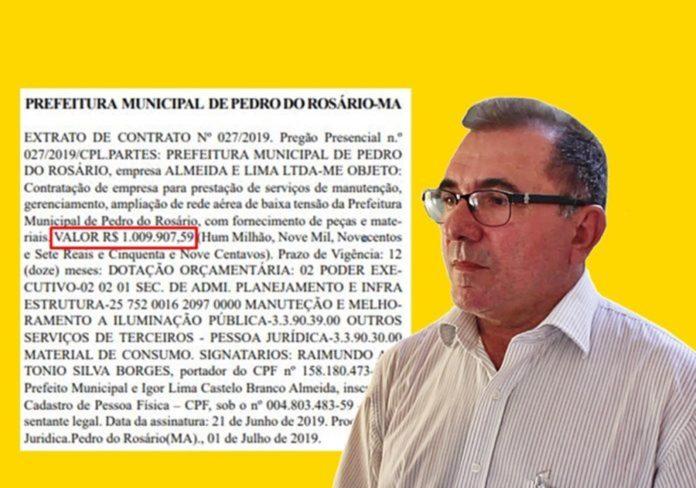"""Empresa de São Luís investigada em 2018 pela GAECO ganha contrato de R$ 1 milhão para """"lavar notas"""" pela Prefeitura de Pedro do Rosário"""