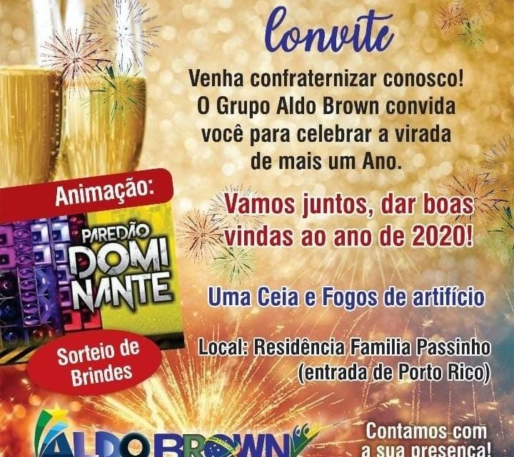 Porto Rico do Maranhão : Pré-candidato a prefeito Aldo Brown realizará festa da virada aberta ao público em sua residência, confira