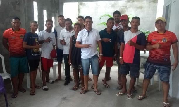 Turilândia – Gonzaga Ferraz recebe Jovens da Escolinha de Futebol do Cleyton