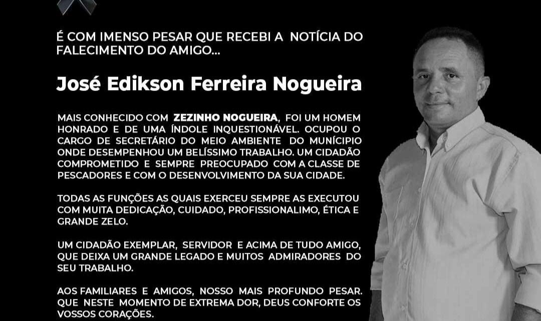 Santa Helena – Dr Lobato emite nota de pesar pelo falecimento do ex-secretário de meio ambiente Zezinho Nogueira