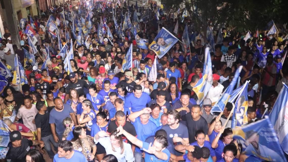 Durante evento nesta sexta-feira (06), Leonardo Sá mostra porque é o favorito a vencer as eleições em Pinheiro