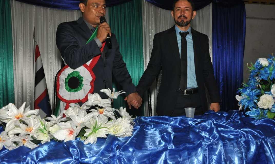 Aldo Brown e Zequinha são empossados prefeito e vice-prefeito de Porto Rico do Maranhão