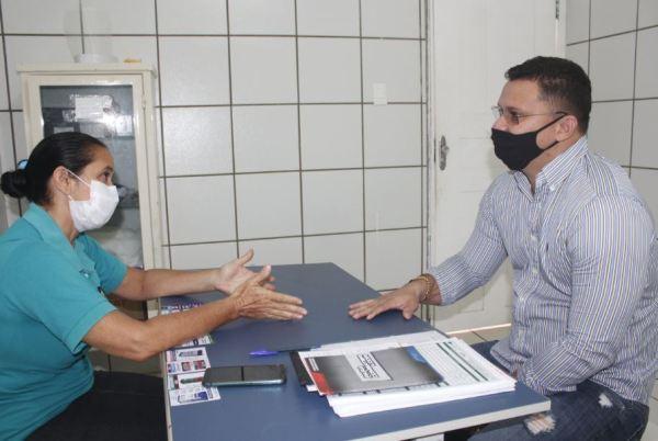 Vereador Braz Amaral, cumpre agenda de trabalho em visita a Unidade de Saúde José Leite