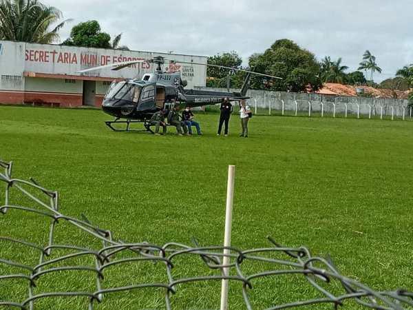 Em Santa Helena denúncia do prefeito Zezildo Almeida, Mobiliza aeronave e equipe com delegado vindos de São Luís para ouvir Evandro Dias