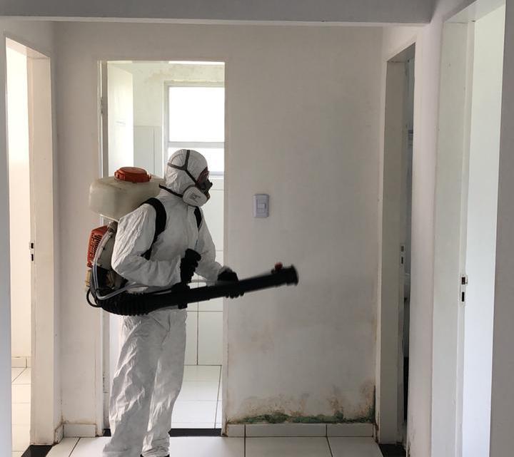 Prefeitura de Porto Rico do Maranhão intensifica ações de combate à Covid-19, e realiza mais uma etapa de desinfecção de prédios públicos