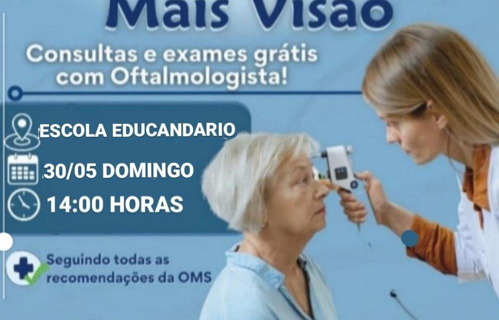 Ação conjunta do vereador Prof. Zeca e clínica mais visão, irá oferecer consultas e exames oftalmológicos de forma gratuita para população de São Vicente Ferrer