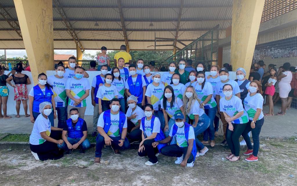 Serrano do Maranhão – Programa saúde na porta chega ao povoado Portinho com mais de dois mil atendimentos, e entregas de cestas básicas