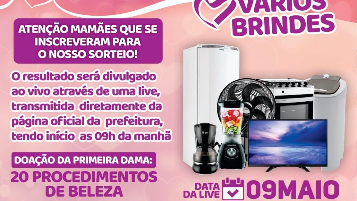 Prefeitura de Porto Rico do Maranhão realiza neste domingo (09), live show de prêmios para as mães