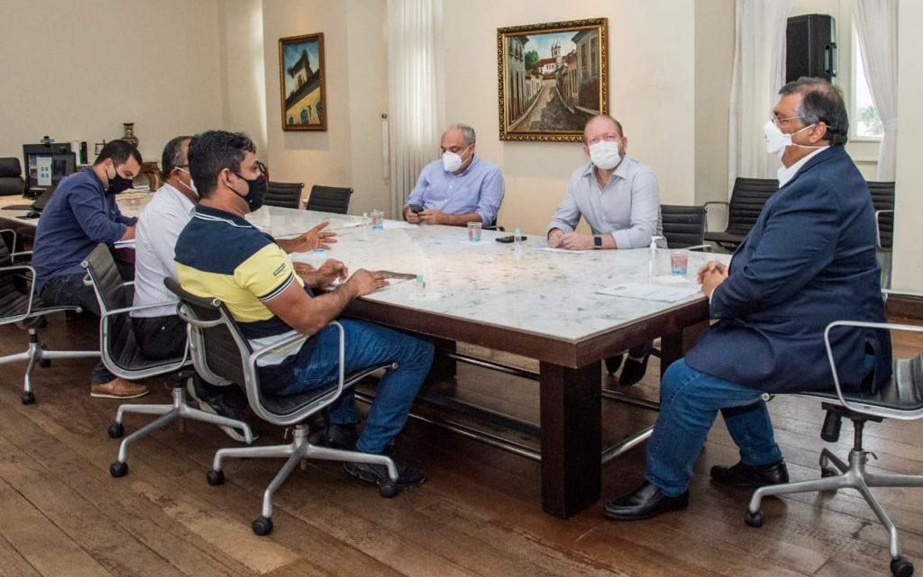 Prefeito Toca Serra garante investimentos para Pedro do Rosário, em reunião com o Governador Flávio Dino e Deputado Othelino Neto