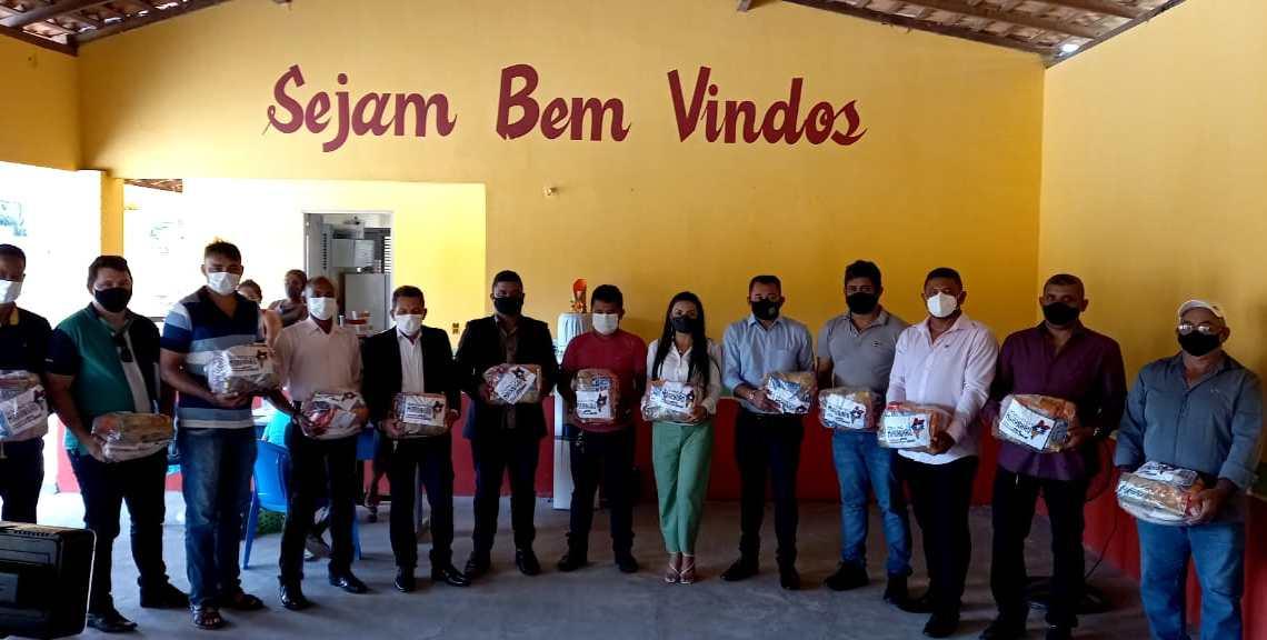 """Prefeitura de Pedro do Rosário em parceria com Governo do Estado, inicia distribuição de cestas básicas do programa """"Comida na Mesa"""""""