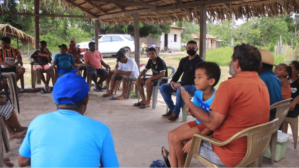 Santa Helena – Vereador Braz Amaral visita comunidade de Araújo na região ribeirinha, fiscaliza escola e participa de reunião com moradores