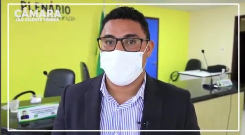 São Vicente Ferrer –  Presidente da Câmara professor Zeca, alerta para o aumento de casos de Covid-19 no Município, e reforça à importância para cumprimento das medidas de prevenções