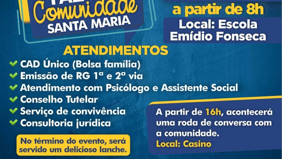 """Em Porto Rico do Maranhão, moradores do Povoado Santa Maria serão beneficiados com programa """"Fala Comunidade"""" nesta quinta-feira (15)"""