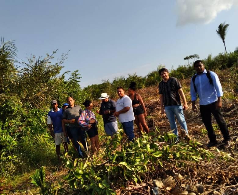 Alcântara – Vereadores acompanham demarcação de local onde será implantado sistema de abastecimento d'água no Povoado Iguaíba
