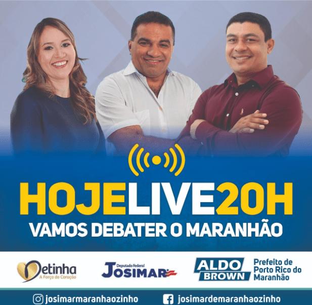 Prefeito de Porto Rico do Maranhão Aldo Brown, participa da live de Josimar Maranhãozinho e Detinha nesta segunda-feira (02)
