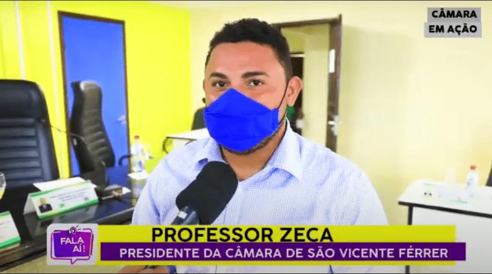 São Vicente Ferrer –  Presidente da Câmara Prof. Zeca, fala sobre retorno dos trabalhos do legislativo Municipal após o recesso de meio do ano