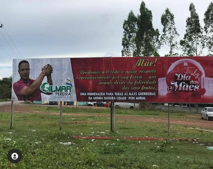 Por perseguição política prefeito Heliezer Serrão intima proprietários, e manda retirar Outdoor da entrada do povoado Boca do Campo, zona rural de Peri-Mirim