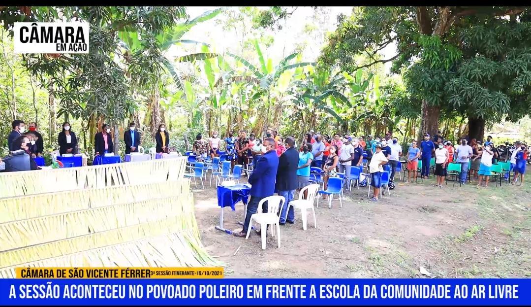 Câmara de vereadores de São Vicente Ferrer realiza 3ª sessão itinerante no povoado Poleiro, e ouve demandas dos moradores