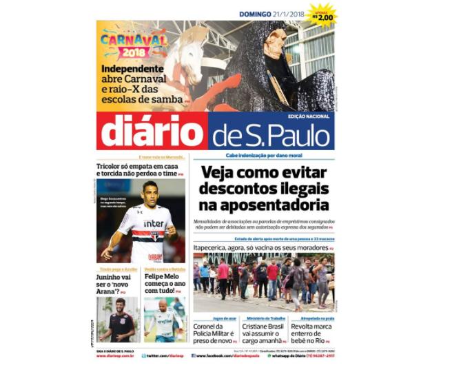 Juiz decreta falência do jornal Diário de S. Paulo