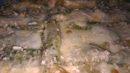 Lasanha de espinafre