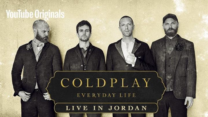 Coldplay lança novo disco com show na Jordânia