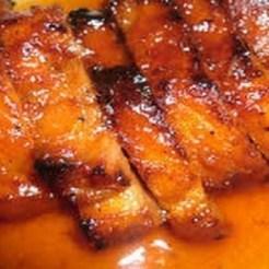 Lombinho de porco com molho de laranja destaque