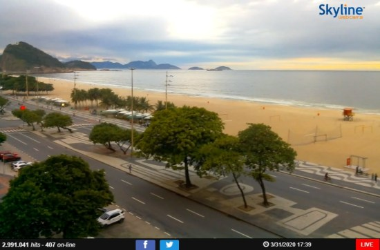 Webcams pelo mundo - Copacabana