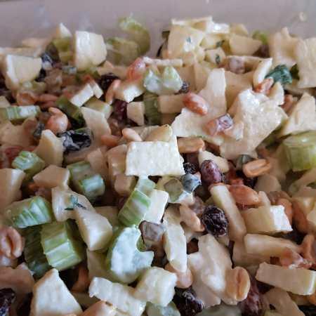 salada de aipo com maçã verde