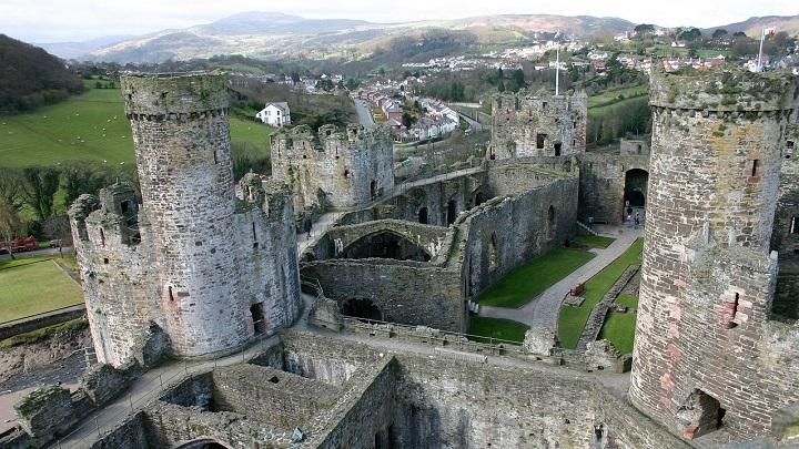 Mais um tour virtual: Castelo de Conwy, no País de Gales